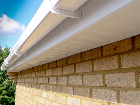 White uPVC Fascia, Soffit and Square Guttering.