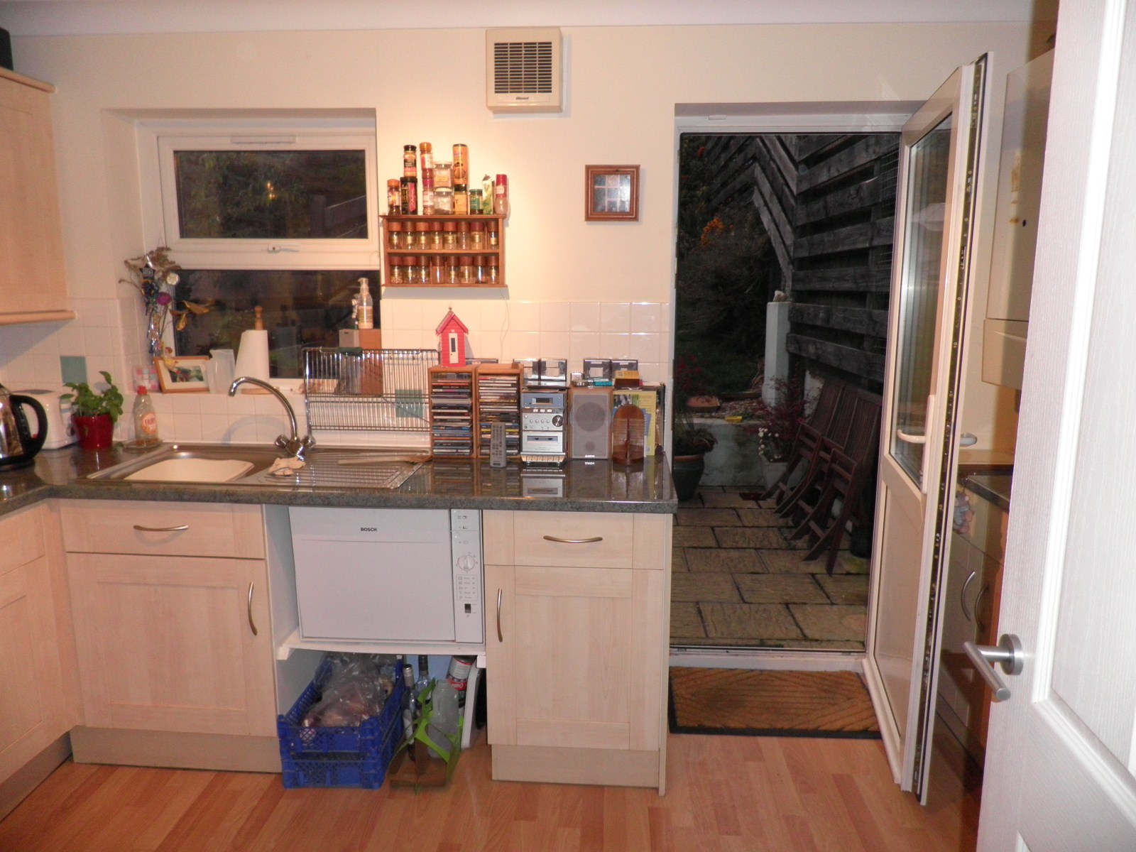 View from Kitchen - Before
