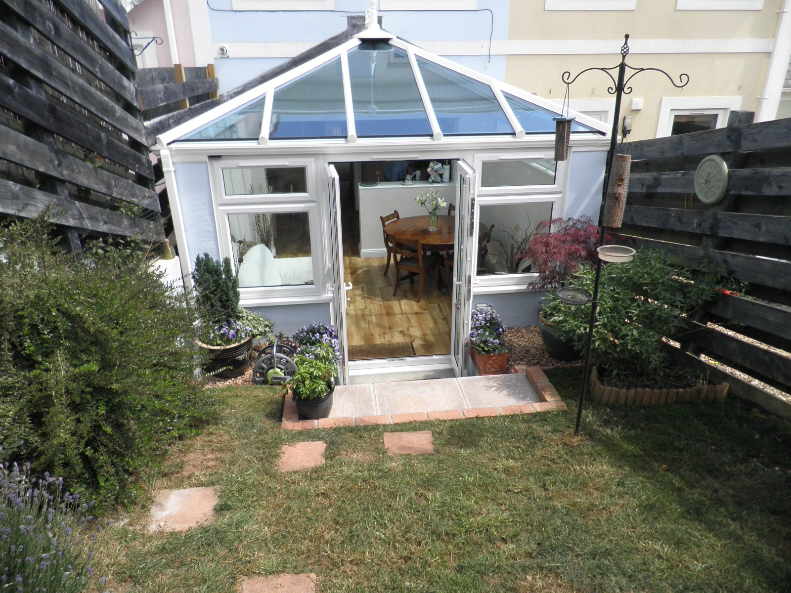 White uPVC Conservatory in Teignmouth - View from Garden