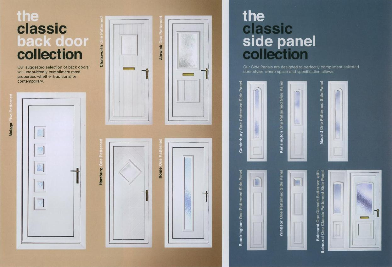 range of u p v c front back door panels which can come in either white ...