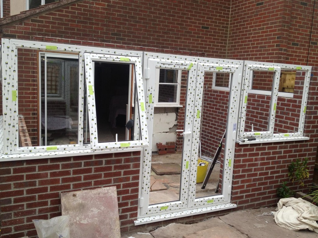 Frames and Door installed ready for Roof