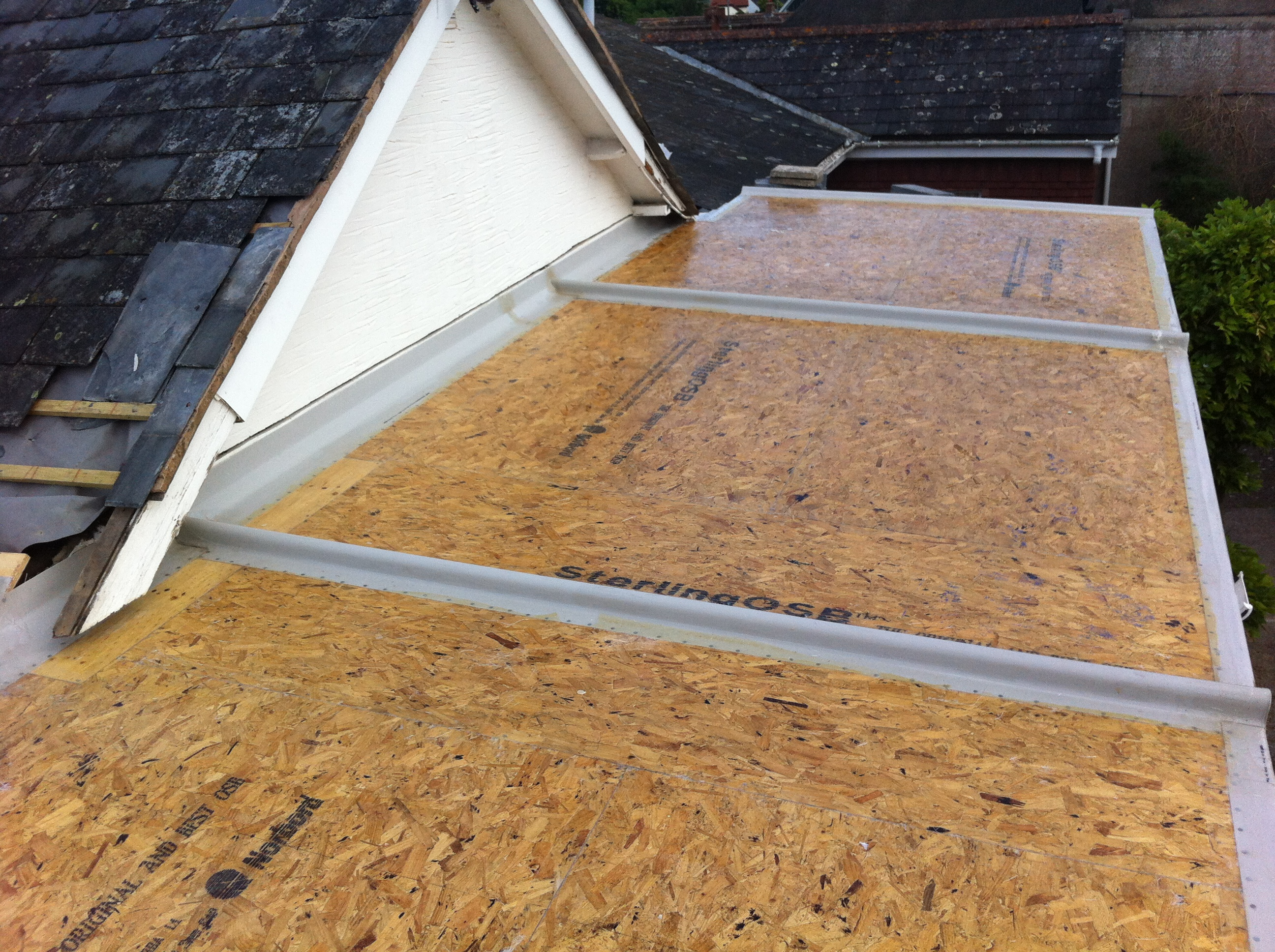 Grp fibreglass flat roofing curwell windows ltd for Roof drawing app